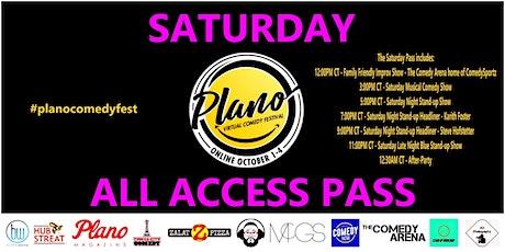 Plano Virtual Comedy Festival - Saturday All Access Pass tickets