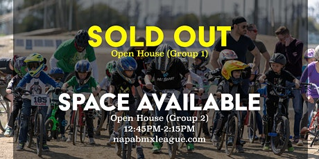 OPEN HOUSE (Group 1) – Napa BMX League tickets