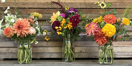"Learn to design a 'garden gathered"" bouquet at Early Bird Family Farm tickets"
