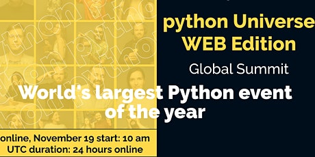Python WEB Global Summit'20 tickets