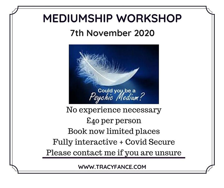 07-11-20 Psychic Development; Beginners Mediumship image
