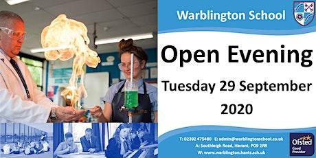 Warblington School - Open Evening 2020 tickets