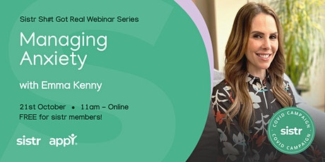 Managing Anxiety with Emma Kenny tickets