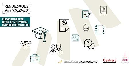 Rendez-vous de l'étudiant: CV, lettre de motivation et entretien d'embauche billets