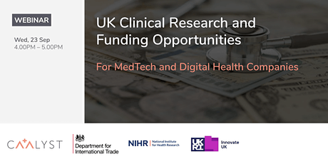 UK Clinical Research and Funding Opportunities tickets