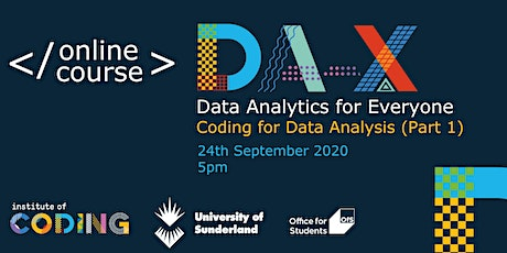 Data Analytics for Everyone: Coding for Data Analysis (Part 1) tickets