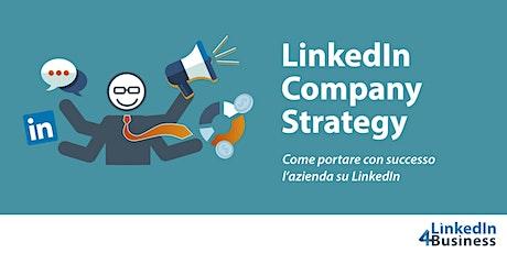 CORSO LINKEDIN COMPANY STRATEGY biglietti
