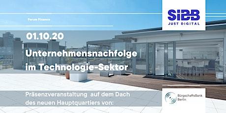 Forum Finance: Unternehmensnachfolge  im Technologie-Sektor Tickets