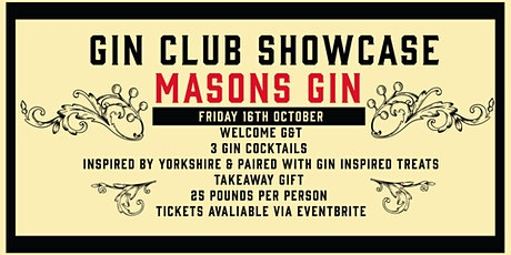 Gin Club Showcase - Mason's Yorkshire Gin tickets