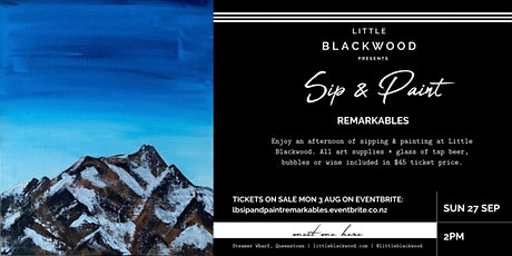 Sip & Paint: Remarkables at Little Blackwood, Queenstown tickets