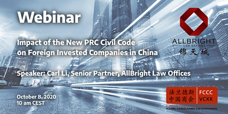 Webinar: Impact of the New PRC Civil Code on Foreign Invested Companies tickets