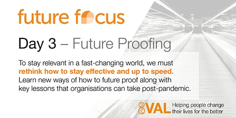 Future Focus 2020 - Day 3 - Future Proofing tickets