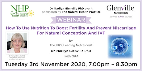 How To Use Nutrition To Boost Fertility And Prevent Miscarriage tickets