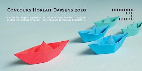 Concours Horlait Dapsens 2020 billets
