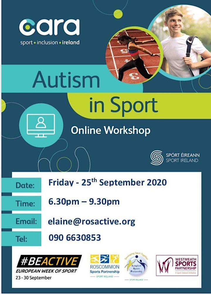 Autism in Sport Workshop - online image