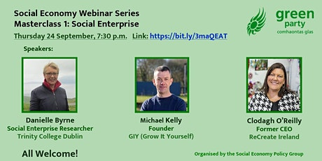 Social Economy Policy Webinar Series: Social enterprise tickets