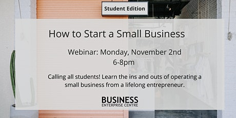 How to Start a Small Business (Student Edition) tickets