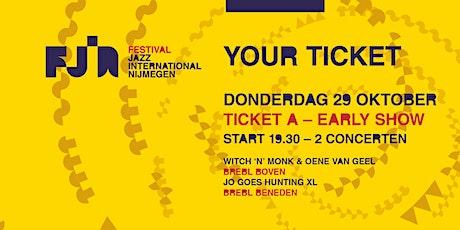 Dag 1 FJIN 2020  A • Witch 'n' Monk & Oene van Geel • Jo Goes Hunting XL tickets