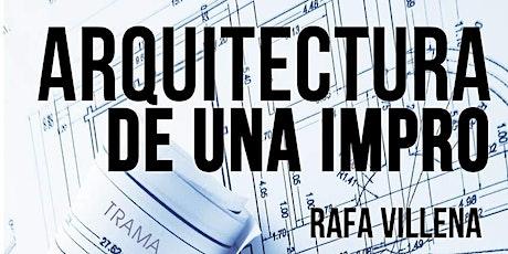 """Presentación del libro """"Arquitectura de una impro"""" entradas"""