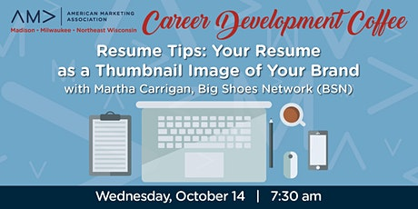 Marketing Career Development Coffee - Resume Tips tickets