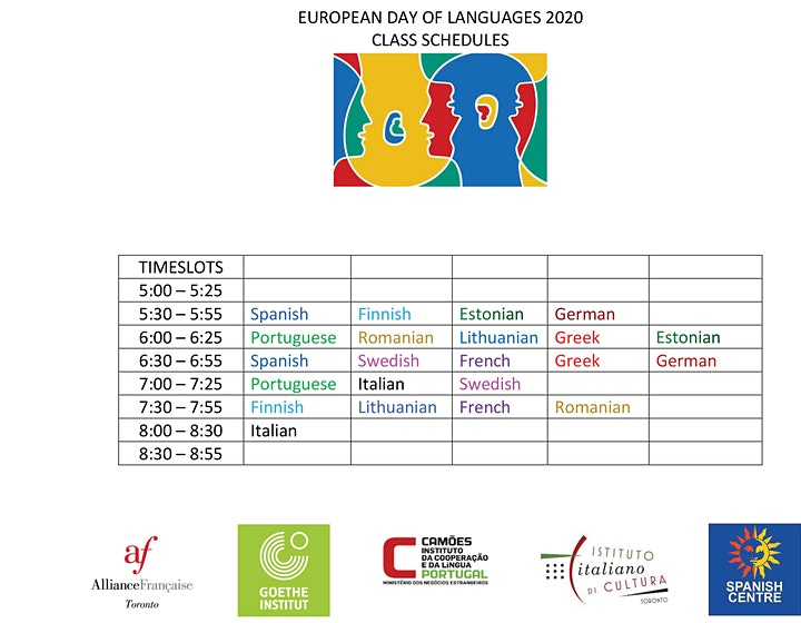 EUROPEAN DAY OF LANGUAGES 2020 (Portuguese) image