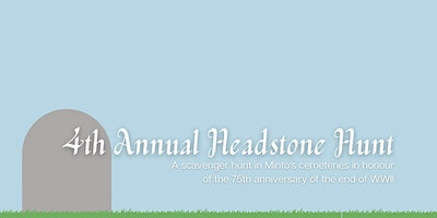 4th Annual Headstone Hunt