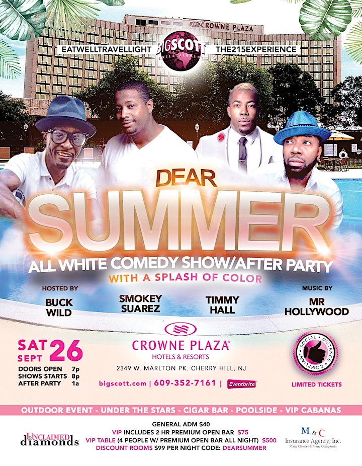 All White Comedy Show with after Party This Saturday indoor/outdoor Event image