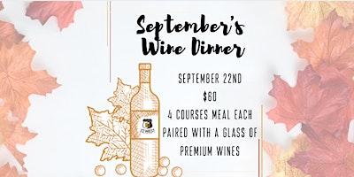 September's Wine Dinner