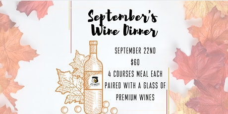 September's Wine Dinner tickets