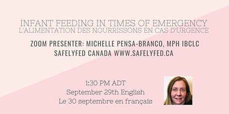 Infant Feeding In Times of Emergency English Sept 29th French Sept 30th billets