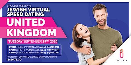Isodate's UK Jewish Virtual Speed Dating tickets