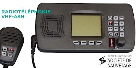 Radiotéléphonie VHF-ASN  - EN LIGNE -(20-58) billets