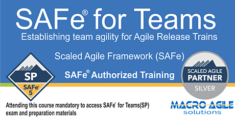 SAFe® for Teams With SAFe®5 Practitioner Certification tickets