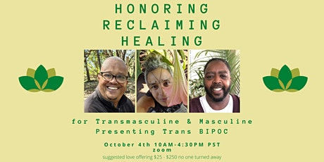 Honoring, Reclaiming, and Healing:A Day for Mindfulness & Connecting. Day 2 tickets