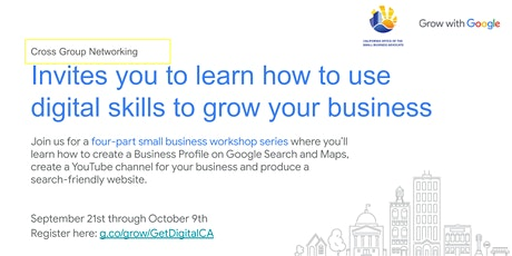 Cross Group Networking and Grow with Google Workshop series tickets