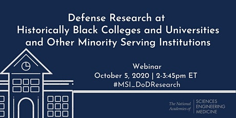 Defense Research at Historically Black Colleges & Universities  and MSIs tickets