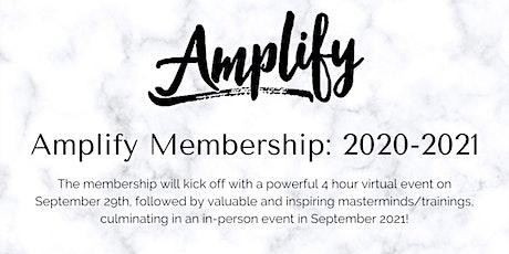 Amplify Membership 2020-2021 tickets