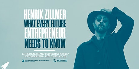 Henrik Zillmer: What Every Future Entrepreneur Needs to Know tickets