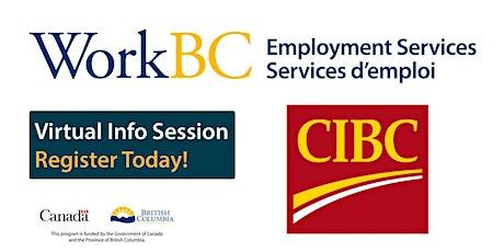 WorkBC online hiring event with CIBC tickets