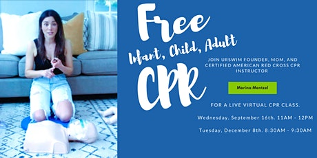 FREE Virtual Infant, Child and Adult CPR Class tickets
