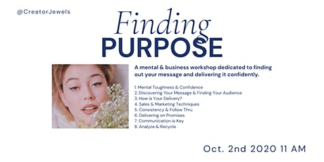 Finding Purpose | Mental & Business Workshop tickets