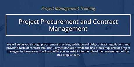 Project Procurement & Contract Management [ONLINE] tickets
