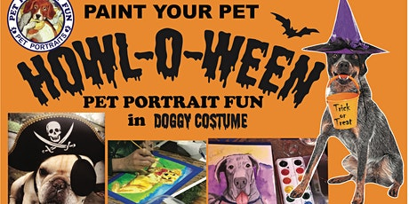 HOWLOWEEN Sip and Paint a Pet Portrait Fun- Barking Dog New York tickets