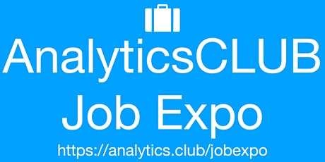 #AnalyticsClub Virtual JobExpo Career Fair Montreal tickets