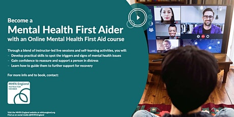 Mental Health First Aid England Adult Course (ONLI tickets