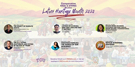TCU Latinx Heritage Month 2020 tickets
