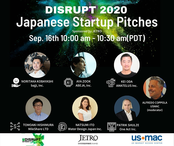 DISRUPT 2020 Japanese Startup Pitches image