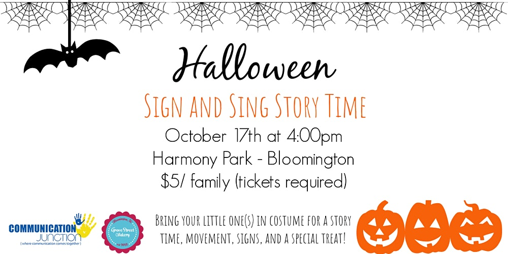 Halloween 2020 In Bloomington Il Halloween Sign and Sing Story Time   Bloomington Tickets, Sat, Oct