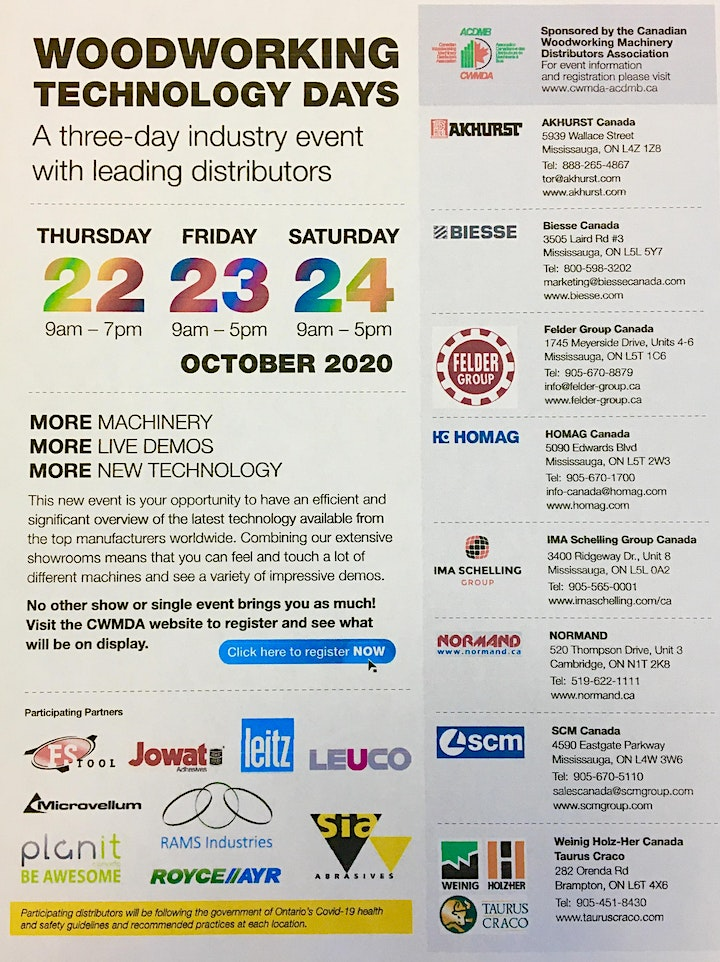 Woodworking Technology Days image