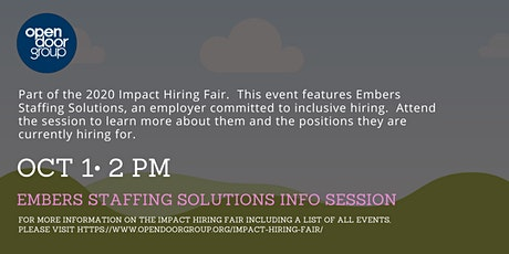 Impact Hiring Fair - Embers Staffing Solutions Info Session tickets